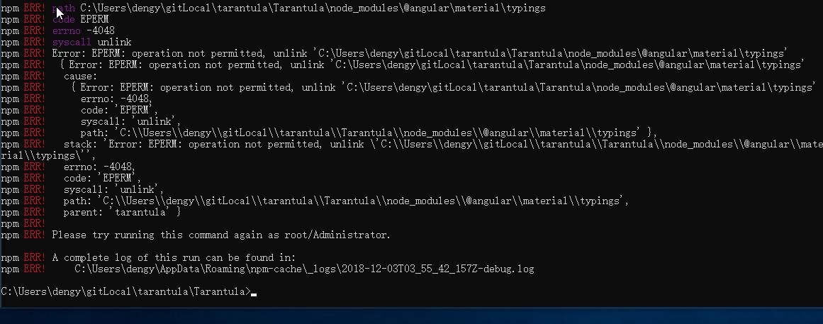 npm install typescript 3.1.1